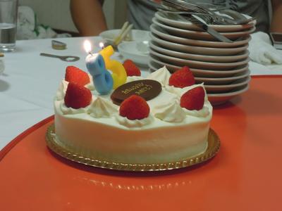 ビータPへの誕生日ケーキ