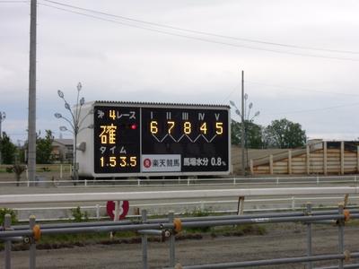 第4レース 結果