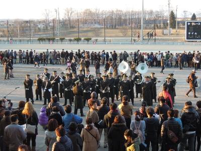 ばんえい記念・陸上自衛隊第5音楽隊(帯広駐屯地)によるファンファーレ